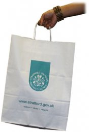 REC01: White Paper Carrier Bag (Large)