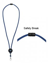 LAN06: Two-Tone Adjustable Disk Lanyard
