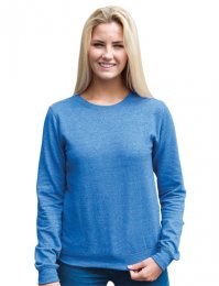 LHS45: Lady-Fit Heather Sweatshirt