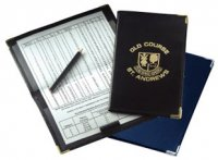 G0287: Leather Gleneagles Scorecard Holder