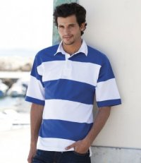 RS9: Hoops Short Sleeve Rugby Shirt