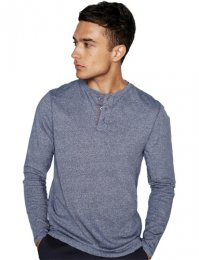 FR130: Long Sleeve Henley Tee Shirt
